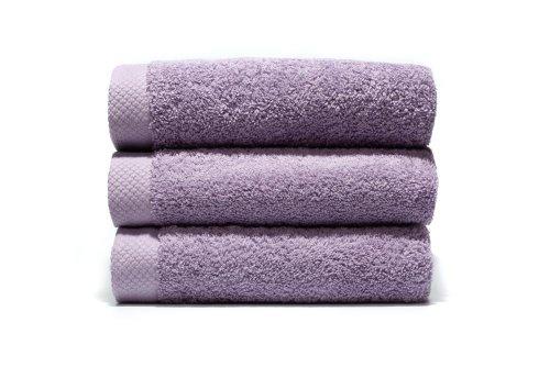 Lasa Pure Juego 3 Toallas, algodón 100%, Lila, Ducha (70 x 140 cm), Lavabo y tocador
