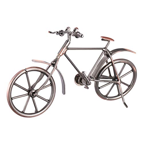 VORCOOL Deko Fahrrad Vintage Eisen Kunst Fahrrad Modell Sammlereisen Skulptur Dekoration