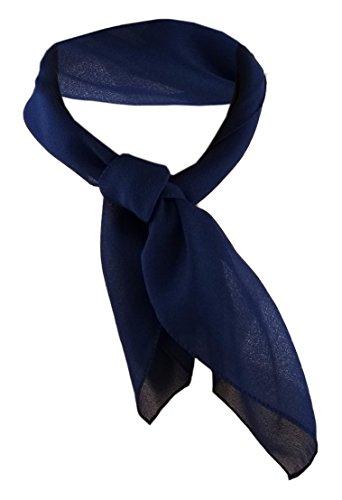 TigerTie signore chiffon panno nicki - blu scuro dimensione 50 cm x 50 cm - foulard sciarpa