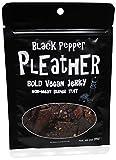 Black Pepper Vegan Jerky - Bold, Traditional Extra Tough Texture - Hand Made