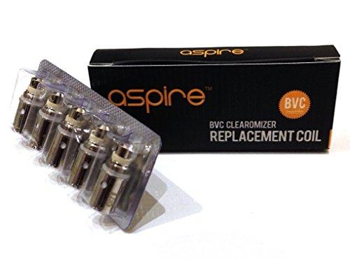 Aspire - BVC Spulen Für ET-S, Vivi Nova, CE5 & K1 (5x 1.6ohm BVC Spulen) Neues Design