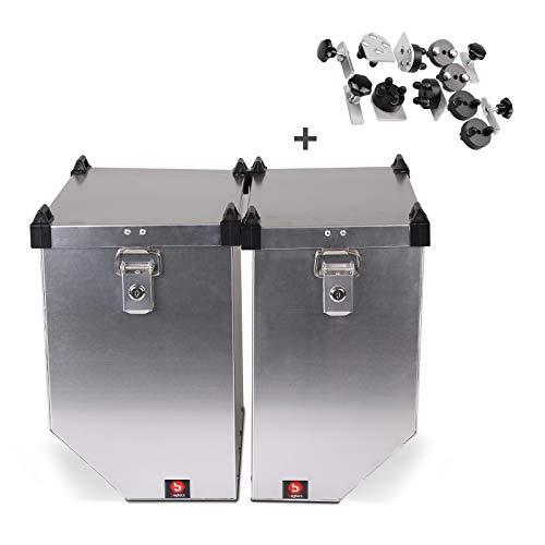 Maletas Laterales Aluminio AL 36-41 L para Honda CB 500 F/S/X, NX 650 Dominator + Kit