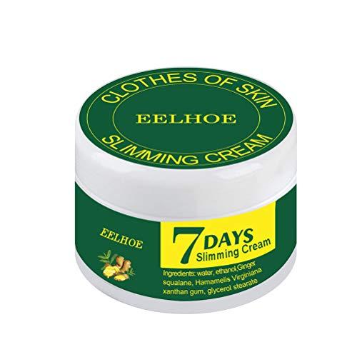 Crema adelgazante de jengibre anticelulítico para todo el cuerpo, para adelgazar, quemar grasa para adelgazar el abdomen, crema de masaje para cintura brazos muslos vientre para mujeres y hombres