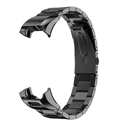 Yesmile Uhrenarmband, Edelstahl Armband für Uhren Armbänder für Garmin VIVOsmart HR, Schönes Edelstahl Ersatzband Armbänder Klein Groß