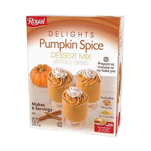 Royal Delights Dessert Mix, Pumpkin Spice with Graham Cracker Crumbs, 9.16 OZ, 6 CT (Pack - 1)