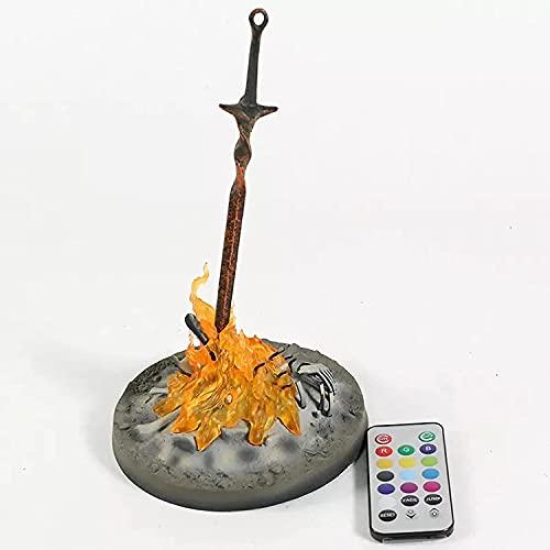 HHAA Figure Anime Dark Souls III Bonfire 1/6 Scale Light Up Statue Figure De Collection Modèle Jouet Brinquedos