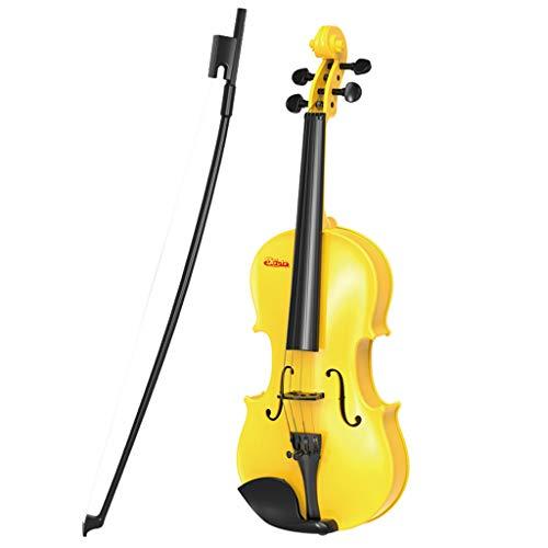 MaNMaNing Anfänger Klassische Geige Gitarre Kinder Pädagogisches Musikinstrument Spielzeug Weihnachtsgeschenk (Gelb, 47,5 x 16,5 x 8 cm)