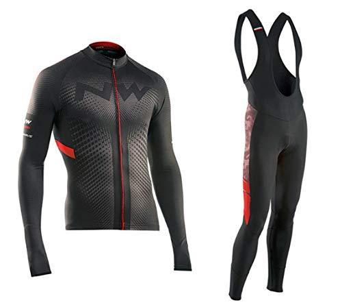 Hplights Maillot para Ciclismo con 9D Acolchado De Gel + Pantalon/Culote Bicicleta...