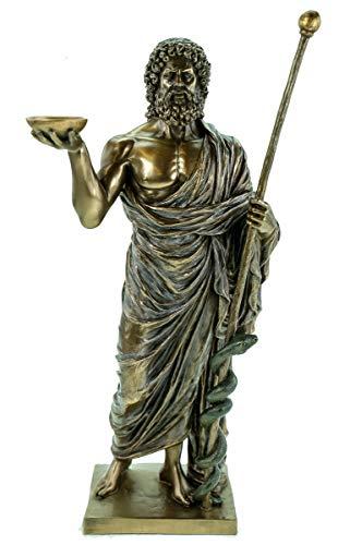 Sascosia Äskulap Hippokrates, Gott der Heilkunst Figur Aesculap Skulptur Aeskulap Statue