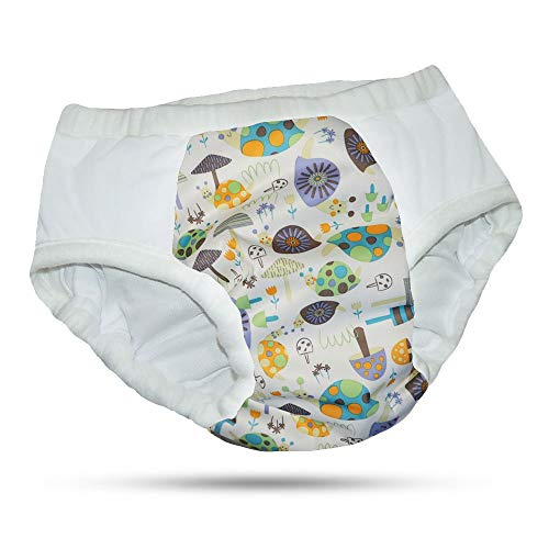 Adult Reusable Cloth Diaper with Heavy Absorbency (Small, Snail)