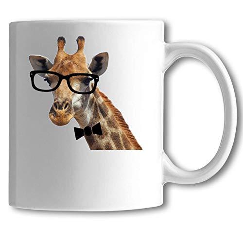 Iprints hoge klasse giraffe met bril wit keramische thee koffie mok