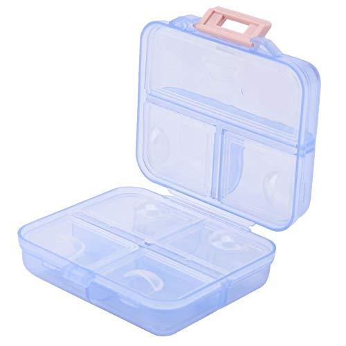 Wekelijkse pil organizer medicine box sterke structuur 7 roosters anti-slip zakenreis voor reizen hoogwaardig (blauw)
