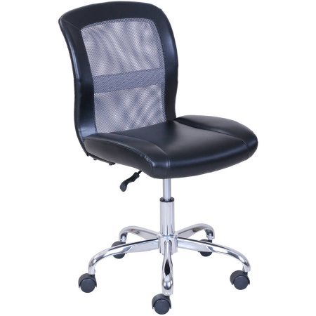Mainstays Vinyl and Mesh Task Chair, Multiple Colors, Black/Gray