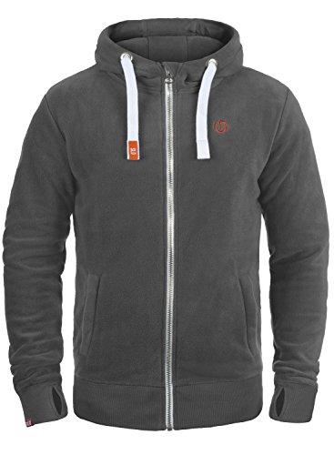 !Solid Loki Herren Fleecejacke Sweatjacke Jacke Mit Kapuze Und Daumenlöcher, Größe:M, Farbe:Dark Grey (2890)