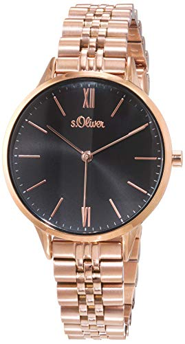 s.Oliver Damen Analog Quarz Uhr mit Edelstahl Armband SO-4212-MQ