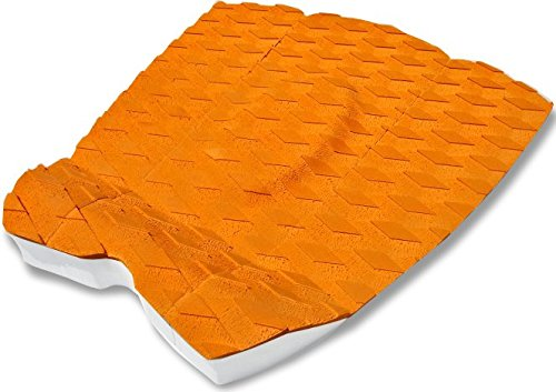 Surfboard Traction Pad - 3 Piece Surf Board & Skimboard Stomp Foot Pads w/Arch Bar - Superb Kick Tail Deck Grip - Fit for Longboard, Shortboard, Fish Board & Skim Board - Premium & Strong 3M Adhesive