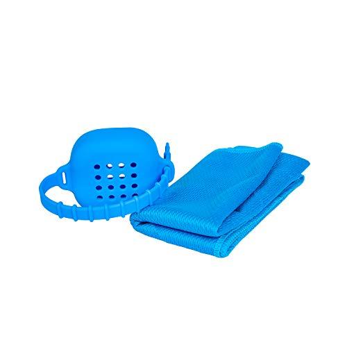 GLUBEE microvezel reishanddoek sneldrogende sporthanddoek met handig siliconen hoesje ultraabsorberend dun compact - voor kamperen wandelen hardlopen rugzak