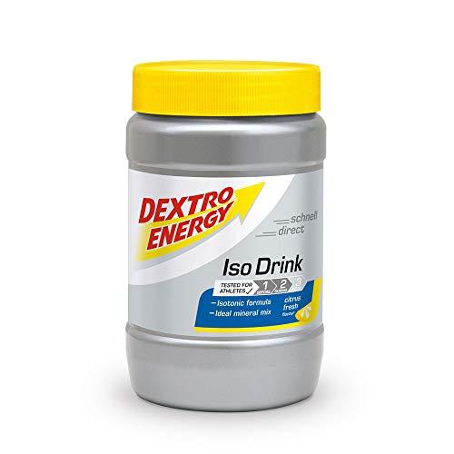 Iso Drink Pulver von Dextro Energy / Citrus Fresh / 440g Isotonisches Getränkepulver Zitrone / Für 11 Isotonische Getränke mit Elektrolyte