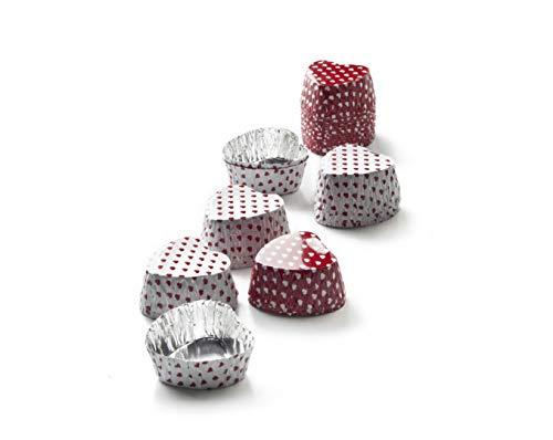 Ibili Pralinenförmchen Heart 36 Stück aus Aluminium, rot/weiß, 3 x 3 x 1.5 cm, Einheiten