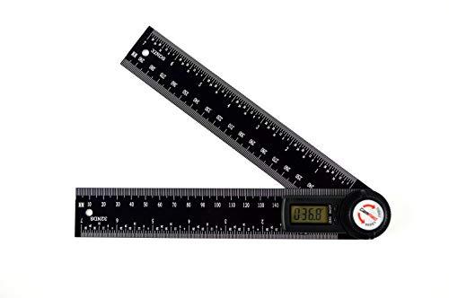 GemRed 82305 Aluminum Digital Protractor Angle Finder (200mm Black)
