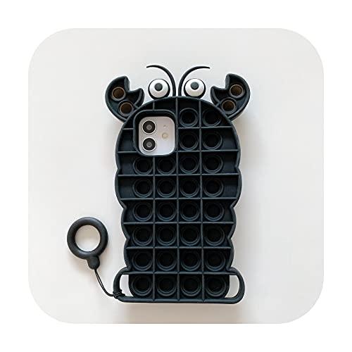 3D linda moda cactus silicona cactus teléfono caso para Iphone 6 6s 7 8 Plus X XR XS 11 12 Pro Max Reliver estrés contraportada Funda-D para iPhone 11