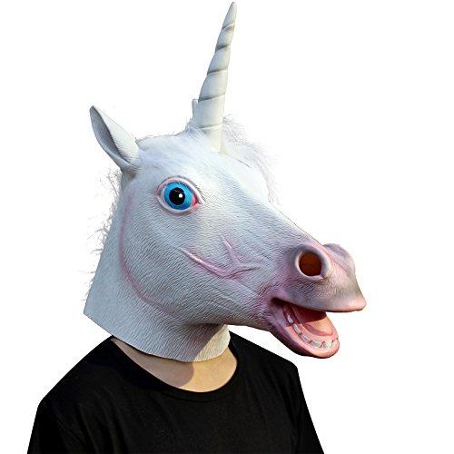 Original Cup Costume da Halloween in Lattice con Maschera a Testa di Unicorno (Unicorno)