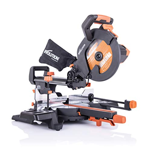 Evolution Power Tools R255SMS+ Troncatrice Radiale Scorrevole Multi-Materiale 255 mm con Pacchetto...