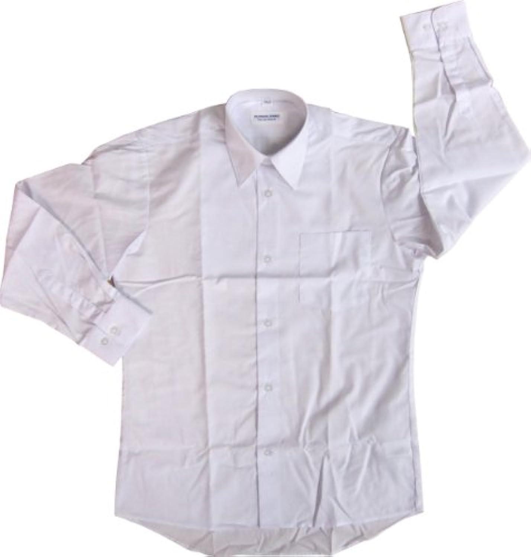 男子 子供サイズ カッターシャツ 長袖  白 #3700T (130)