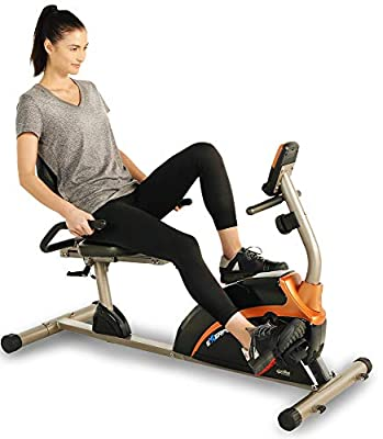 EXERPEUTIC 1500XL Recumbent Exercise Bike with Pulse | 300 lbs. Weight Capacity