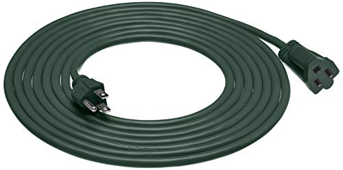 AmazonBasics 16/3 Vinyl Outdoor Extension Cord, Green, 15 Foot