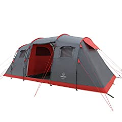 JUSTCAMP Lake 6 Family Tent - Grijs*
