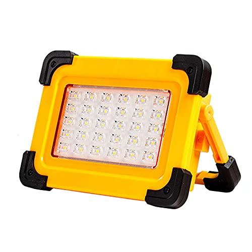 QIANG Foco LED Recargable, 30W Luz Portatil Bateria con 3 Modos De Luces para Acampar Al Aire Libre con USB A Prueba De Agua para Garaje, Pesca, Senderismo
