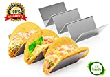 2 Pack Stainless Steel Taco Holder Tray, Taco Truck Stand Holds Up To 3 Tacos...