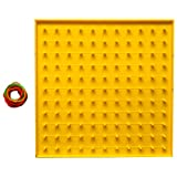 Geometrical Board: EASYTEACH Educational Double Sided Math Model Manipulative For Kids to Learn Geometrical Shapes. Contains board with 100 pegs measured as 22x22x1 cm, weighs 160 gm approx. and one packet of latex(rubber bands) Educational Toy: Lear...