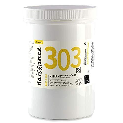 Naissance Burro di Cacao Biologico 500g - Puro, Naturale, Non raffinato, Certificato Biologico, Vegano - Ideale per Formulazioni Cosmetiche