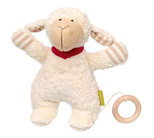 sigikid, Fille et Garçon, Peluche Musicale Mouton, Green Collection, Blanc/Rose, 38887