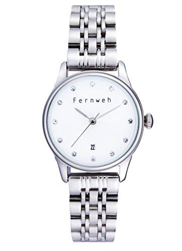 Las Mujeres de Moda Reloj de Cuarzo de Pulsera Elegante Cristal Vestido de Acero Inoxidable Reloj de Pulsera