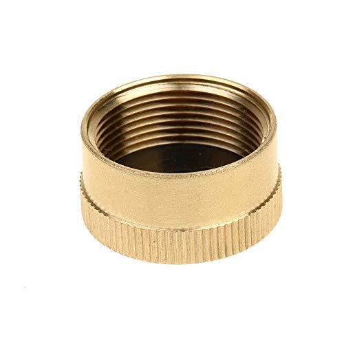 Raybre Art Gold Camping Massivmessing Verschluss 1 LB Propan Flaschenverschluss Gastank Zylinderdeckel