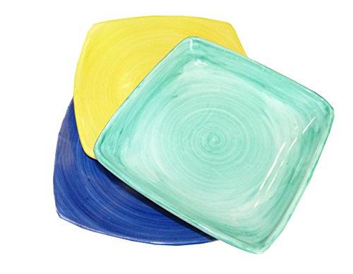 Stendhal Art.VT20 Posto Tavola Quadrato Colorato Ceramica di Vietri Dipinto a Mano