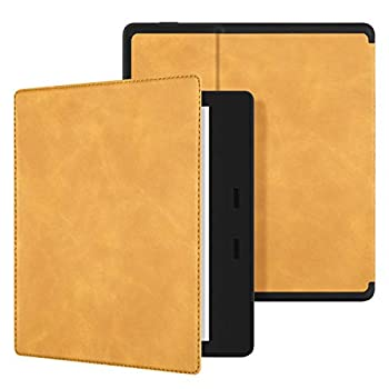 Ayotu Skin Touch Feeling Case for All-New Kindle Oasis 10th Gen 2019 Release & 9th Gen 2017 Release ,with Auto Wake/Sleep,New Waterproof 7  Kindle Oasis Cover,Soft Shell Series KO The Maple Yellow