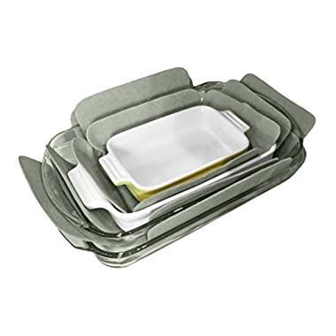 Evelots Bakeware Pan & Dish Protectors, Set Of 3, Assorted Sizes