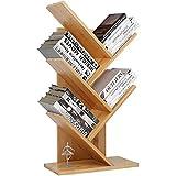 WEDF Generation Simple Baumförmiges Bücherregal, Bambusholz Haushalt Kinderbücherregal/Büroregal, 20cmx44cmx80cm (DREI Schichten)