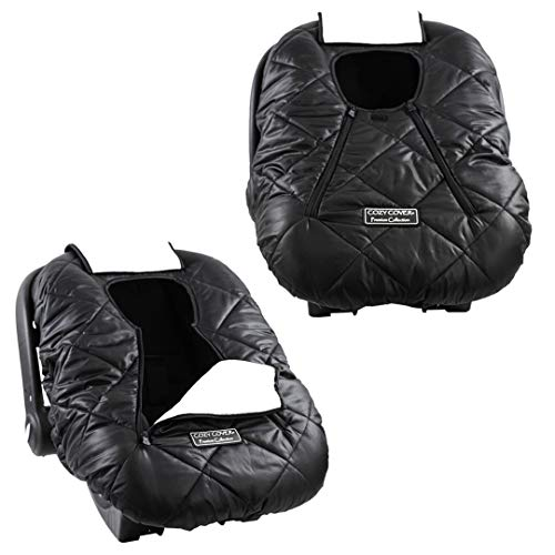 Cozy Cover Premium Infant Car Seat Cover (Black) with Polar Fleece - The Industry Leading Infant...