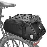 VERTAST Borsa per portapacchi da bicicletta, impermeabile, multifunzionale, per sedile della bicicletta, per attività all'aria aperta, cestino per bicicletta, borsa a tracolla (nero)