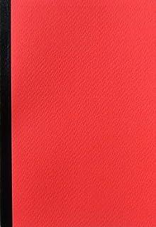 ショウエイドー A6ノート A6(48枚)5色ノート<赤>×10冊セット