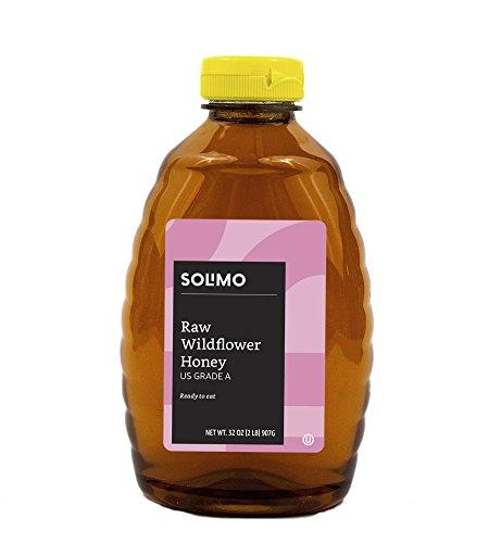 Amazon Brand - Solimo Raw Wildflower Honey, 32 ounce
