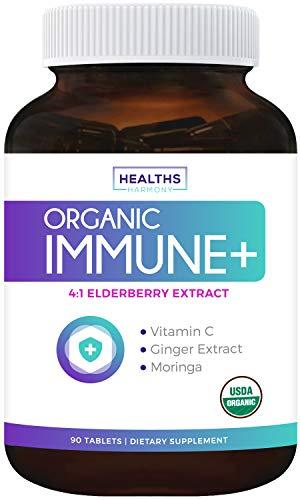 USDA Organic Immune Support (90 Tablets & Vegetarian) Vitamin C,...