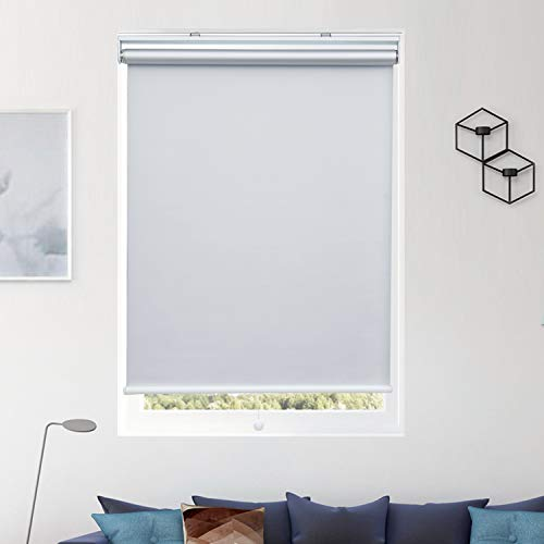 Donutse Roller Blinds Blackout Blinds and Shades Cordless Shades Door Window Blinds for Home Office White,23x72 inch