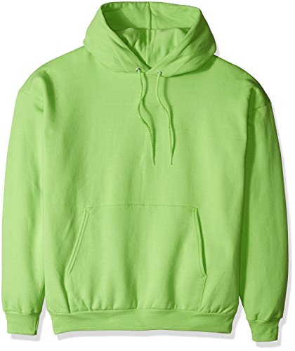 Hanes Men's Pullover EcoSmart Fleece Hooded Sweatshirt, lime, X Large