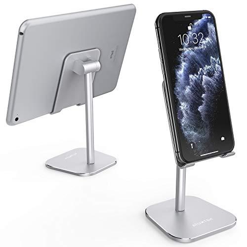 ATUMTEK Supporto da Tavolo per Cellulari, Regolabile in Lega di Alluminio per iPhone 11/11 PRO/XS Max/XR/XS/X / 8/7 Plus, iPad, Samsung, Switch, e per